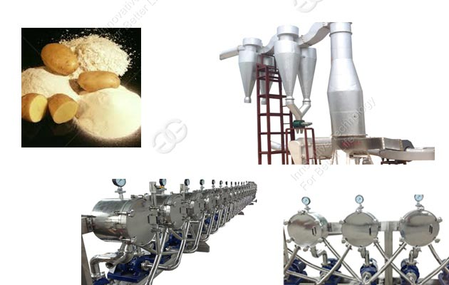 Potato Starch Processing Line 1000kg/h