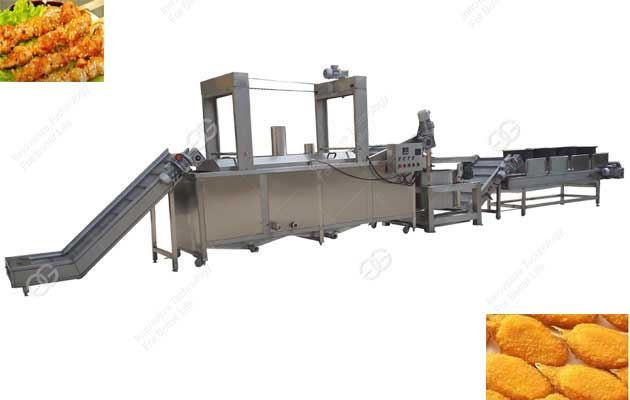 frying processing line