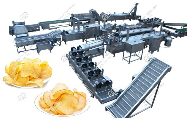 Cassava Chips Making Machine|Potato Chips Processing Plant 300kg/h