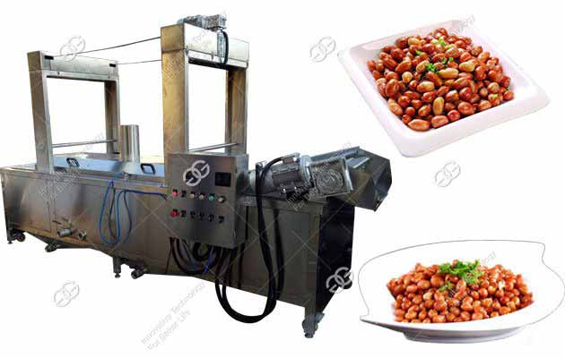 Peanut Frying Processing Line 300kg/h|Groundnut Frying Machine in Nigeria