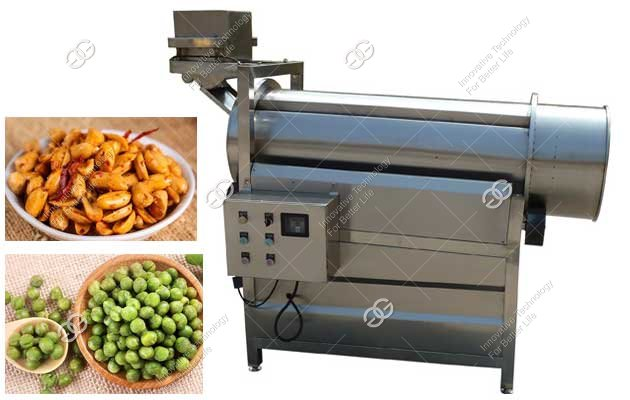 Commercial Peanut Green Peas Seasoning Machine For Sale