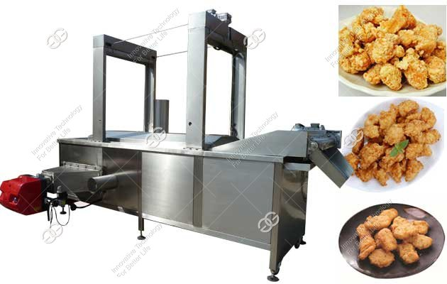 Automatic Chicken Wings Frying Machine|Chicken Nuggets Fryer Machine