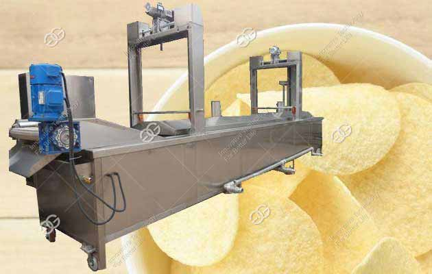 Commercial French Fry Fryer Machine|Automatic Potato Chips Frying Machine