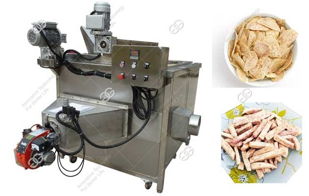 Small Scale Taro Chips Frying Machine|Malanga Chips Fryer Quotation