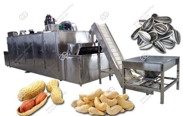 Belt Type Peanut Roasting Machine|Cashew Nuts Roaster Machine Price