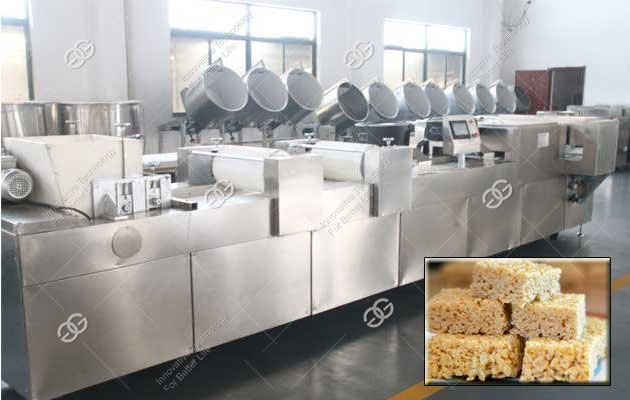 Rice Krispies Making Machine Manufacturer|Commercial Energy Bar Production Line