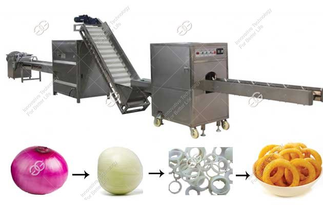 Automatic Onion Ring Frying Pro duction Line Manufacturer