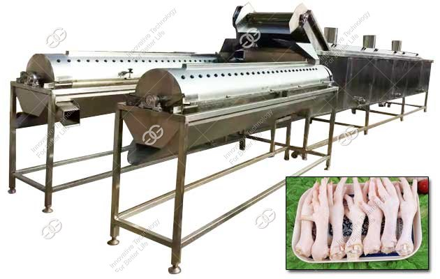 Chicken Paws Peeling Machine Line|Chicken Claw Peeler Manufacturer