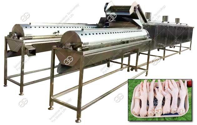Chicken Paws Peeling Machine Line|Chicken Claw Peeler Manufacturer