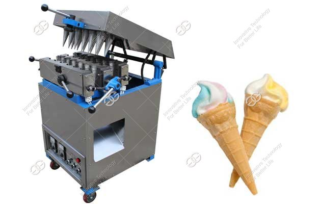 Commercial Ice Cream Cone Maker Machine with 12 Head For Sale