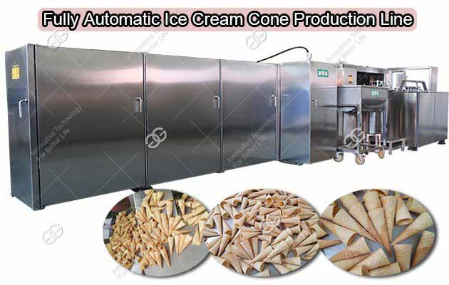 GELGOOG Fully Automatic Ice Cream Sugar Cone Production Line