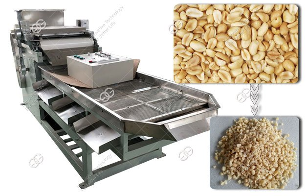Roasted Groundnut Cutting Machine|Commercial Peanut Almond Chopping Machine