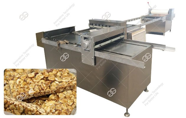 <b>Industrial Peanut Brittle Bar Forming and Cutting Machine</b>