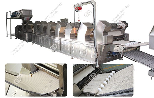 Fully Automatic Instant Noodle Making Machine in China