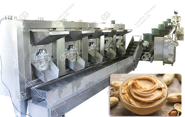 Small Scale Peanut Almond Butter Processing Line Factory 100KG/H