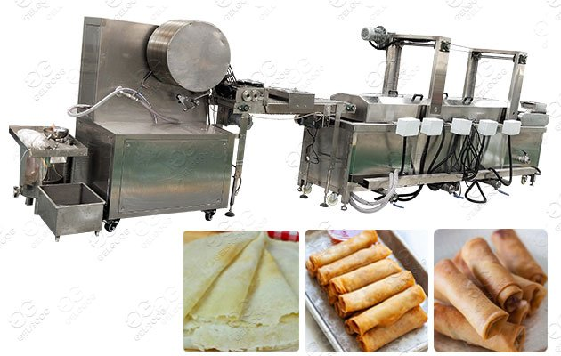 Electric Spring Roll Lumpia Wrapper Frying Machine in Vietnam