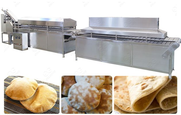 1000pcs/h Khubz(khubas) Arabic Bread Machine in Kuwait