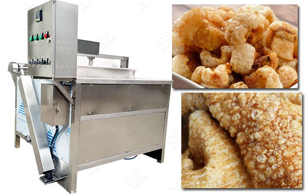 0-300℃ Adjustable Chicharron Frying Machine|Automatic Pork Rinds Fryer