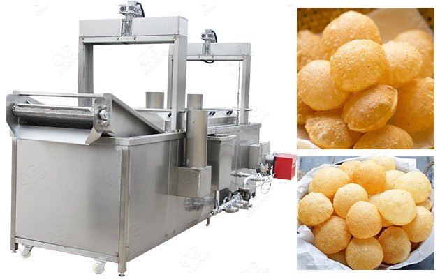Automatic Rectangular Pani Puri(Phuchka) Frying Machine in India
