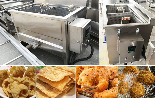 Commercial Deep Frying Bean Curd Skin Machine to Malaysia