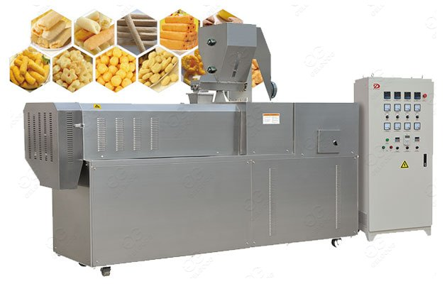 Single Screw Snack Food Kurkure Puffed Extruder Equipment Price