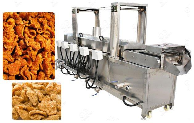 Gas Commercial Fried Pork Cracklins Frying Machine 300KG/H