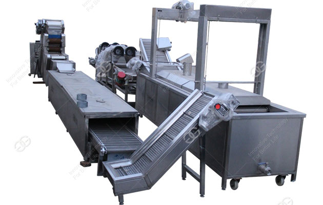The potato chips processing production line is ordered by our customer from Africa