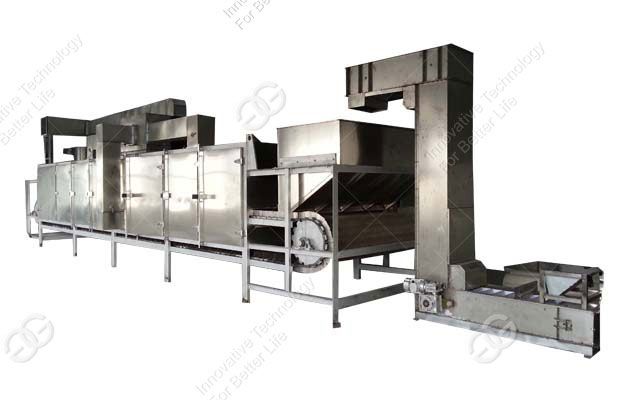 High Quality Nut Peanut Continuous Roasting Machine