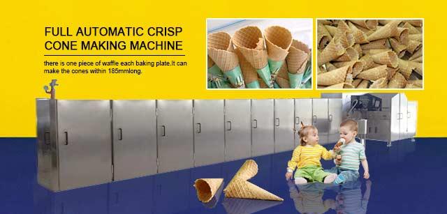 Full automatic crisp cone making machine