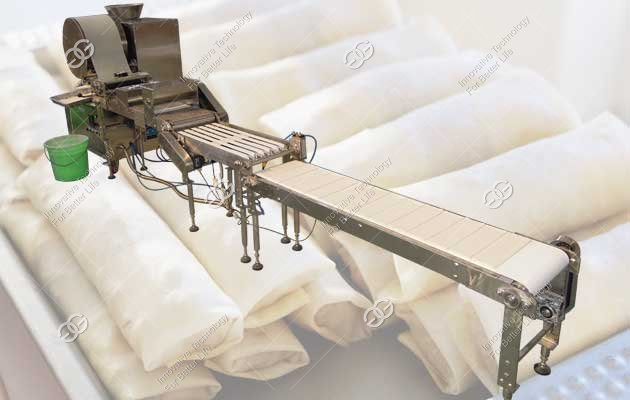 automatic spring roll skin machine