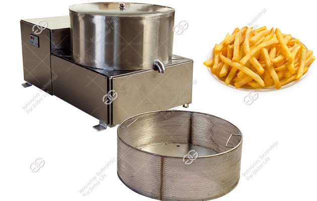 french fries deoiling machine