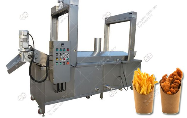 continuous frying machine features