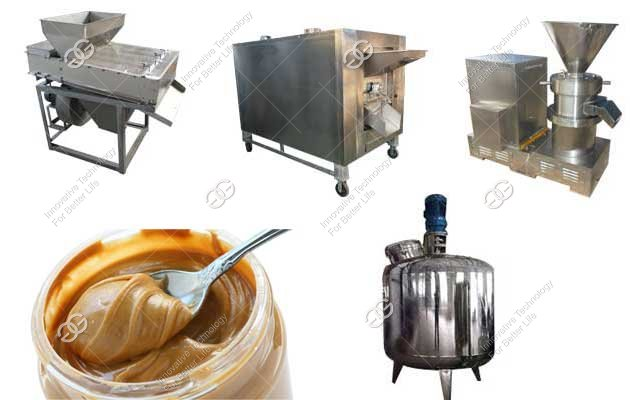 composition of peanut butter production line