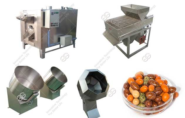 coated peanut snack making machine
