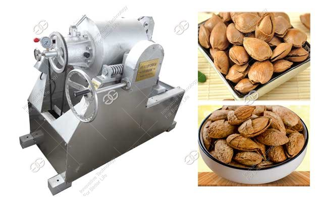 how to open almond shell with machine