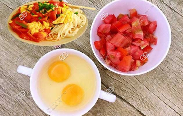 how to make noodles with tomato and egg