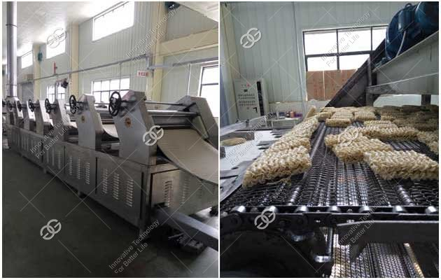 non fried instant noodle making machine line