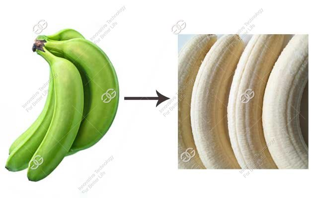 banana skin removing machine