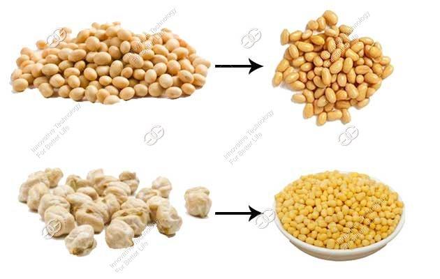 chickpea soybean skin remove