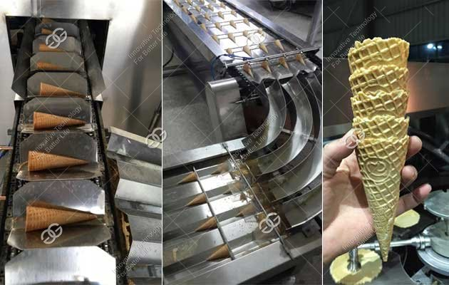 automatic crispy ice cream cone machine