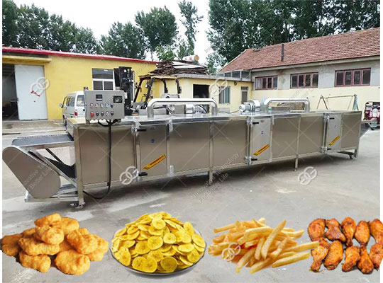 Chicken Nuggets Frying Machine