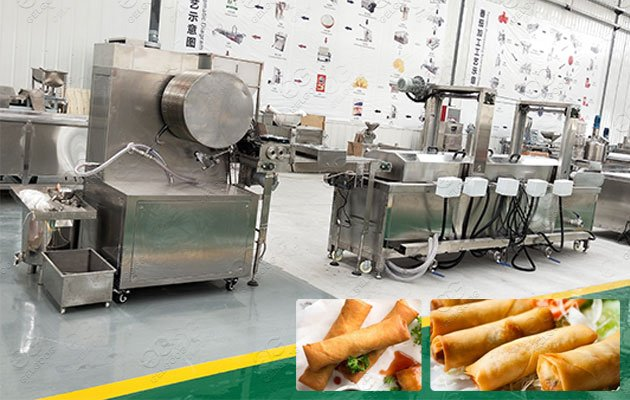 Electric Spring Roll Wrapper Fryer Machine