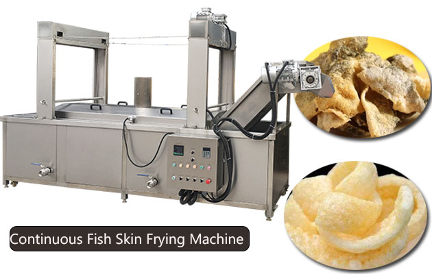 Continuous Fish Skin(Pig Skin) Frying Machine