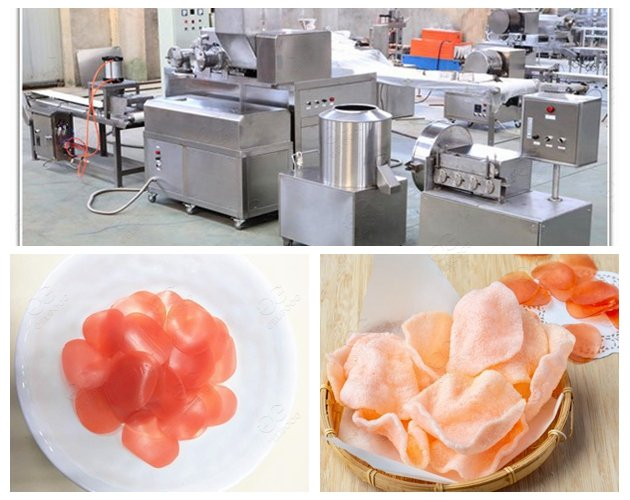 Automatic Shrimp Chips Making Machine in Factory