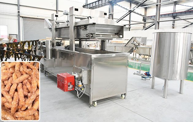 Trini Kurma Frying Machine in Factory